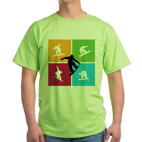 Nice various snowboarding Green T-Shirt