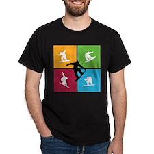 Nice various snowboarding T-Shirt