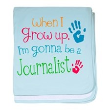 Kids Future Journalist baby blanket