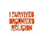 I Survived Organized Religion 38.5 x 24.5 Wall Pee