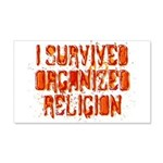 I Survived Organized Religion 22x14 Wall Peel