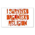 I Survived Organized Religion Sticker (Rectangle 1