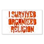I Survived Organized Religion Sticker (Rectangle)