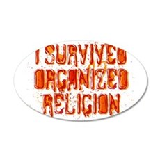 I Survived Organized Religion 38.5 x 24.5 Oval Wal