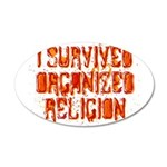 I Survived Organized Religion 22x14 Oval Wall Peel