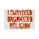 I Survived Organized Religion Rectangle Magnet (10