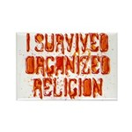 I Survived Organized Religion Rectangle Magnet