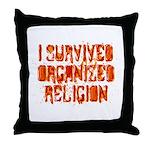 I Survived Organized Religion Throw Pillow