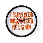 I Survived Organized Religion Wall Clock