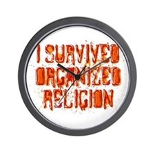 I Survived Organized Religion Wall Clock