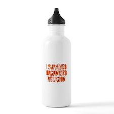 I Survived Organized Religion Water Bottle
