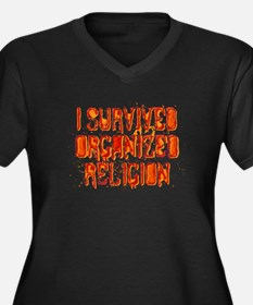 I Survived Organized Religion Women's Plus Size V-