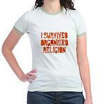 I Survived Organized Religion Jr. Ringer T-Shirt