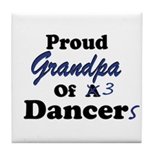 Grandpa of 3 Dancers Tile Coaster