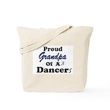 Grandpa of 3 Dancers Tote Bag