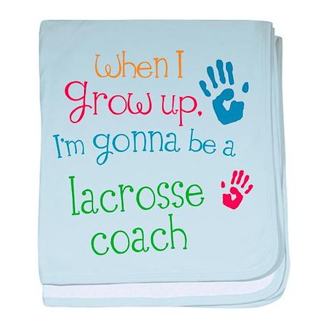 Kids Future Lacrosse Coach baby blanket