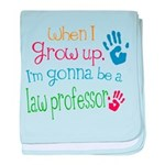 Kids Future Law Professor baby blanket