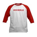 Nichole Kids Baseball Jersey
