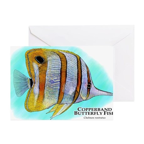 Copperband Butterfly Fish Greeting Cards (Pk of 10