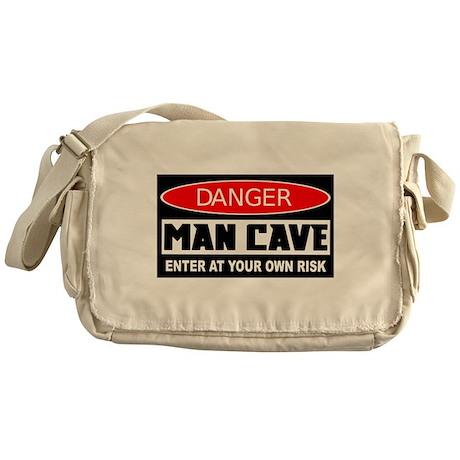 Danger Man Cave Messenger Bag