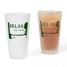 Relax You're At The Lake Drinking Glass