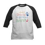 Kids Future Librarian Kids Baseball Jersey