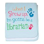 Kids Future Librarian baby blanket