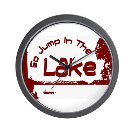 Relax You're At The Lake Wall Clock