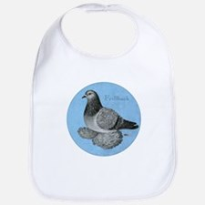 Frillback Pigeon Grizzle Bib