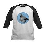 Frillback Pigeon Grizzle Kids Baseball Jersey