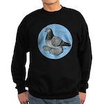 Frillback Pigeon Grizzle Sweatshirt (dark)