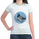 Frillback Pigeon Grizzle Jr. Ringer T-Shirt