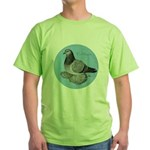 Frillback Pigeon Grizzle Green T-Shirt