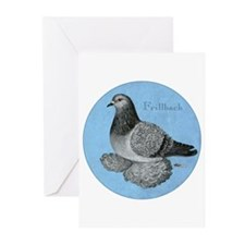 Frillback Pigeon Grizzle Greeting Cards (Pk of 20)