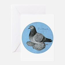Frillback Pigeon Grizzle Greeting Card