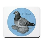 Frillback Pigeon Grizzle Mousepad