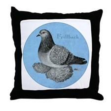 Frillback Pigeon Grizzle Throw Pillow