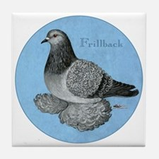 Frillback Pigeon Grizzle Tile Coaster