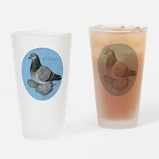 Frillback Pigeon Grizzle Drinking Glass