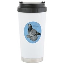 Frillback Pigeon Grizzle Travel Mug