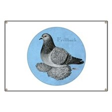 Frillback Pigeon Grizzle Banner