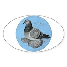 Frillback Pigeon Grizzle Decal