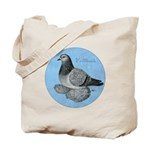 Frillback Pigeon Grizzle Tote Bag