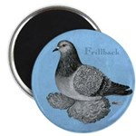 "Frillback Pigeon Grizzle 2.25"" Magnet (100 pa"