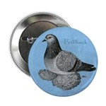 "Frillback Pigeon Grizzle 2.25"" Button"