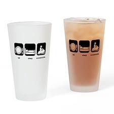 Eat Sleep Snowmobile Drinking Glass