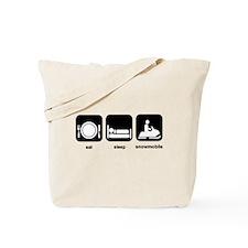 Eat Sleep Snowmobile Tote Bag