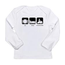 Eat Sleep Snowmobile Long Sleeve Infant T-Shirt