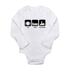 Eat Sleep Snowmobile Long Sleeve Infant Bodysuit