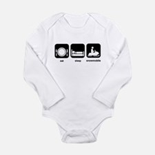 Eat Sleep Snowmobile Long Sleeve Infant Bodysuit